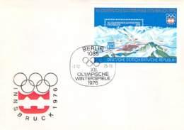 R DDR 1975 FDC Mi.Nr. Block 43 Olympische Winterspiele Innsbruck 1976 - FDC: Briefe