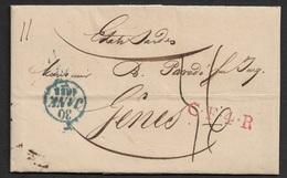 1833 - PARIS Pour GENES ( ETATS SARDES ) - CF4R Correspondence Français 4 Rayon - Jonas Hagerman - Fonds Publique - 1801-1848: Précurseurs XIX