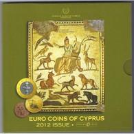 CHYPRE - COFFRET EURO BRILLANT UNIVERSEL 2012 - 8 PIECES (3.88 Euros) - - Zypern