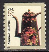 USA 2002 Arts & Crafts 5c Tolware Pot Coil Stamp, MNH (SG 4091d) - United States