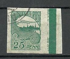ESTLAND ESTONIA 1920 Michel 15 + Color Sheet Margin O - Estonie