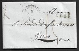 1833 - MARSEILLE Pour GENES ( ETATS SARDES ) - CF4R Correspondence Français 4 Rayon - Jonas Hagerman - Fonds Publique - 1801-1848: Précurseurs XIX