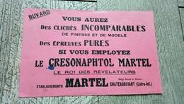 Buvard Photographie Le Cresonaphtol Martel Le Roi Des Révélateurs Chateaubriant 44 - Buvards, Protège-cahiers Illustrés