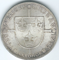 Sweden - Gustav V - 5 Kronor - 1935 (KM806) 500th Anniversary Of The Riksdag - Suède