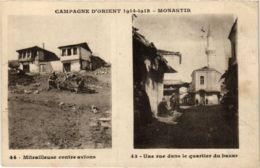 CPM Campagne D'Orient. MONASTIR Mitrailleuse Contre Avions. Une Rue Dans Le Quartier Du Bazar MACEDONIA SERBIA (708989) - Mazedonien