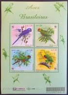 #Brasil 2001** Mi.3150-53 Parrots WWF, MNH [26;63] - Parrots
