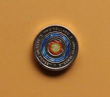 Australia 2018 $2 UNC LEST WE FORGET Eternal Flame ANZAC Coin Coloured QEII Security Bag - Decimal Coinage (1966-...)