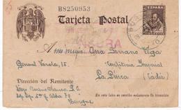 Entero Postal De Cervantes Circulado De Burgos A La Línea - 1931-Hoy: 2ª República - ... Juan Carlos I