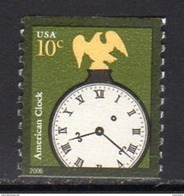 USA 2002 Arts & Crafts 10c American Clock Coil Stamp, MNH (SG 4091e) - United States