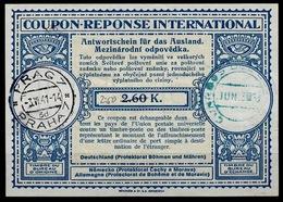BÖHMEN & MÄHREN London Type XIII  Ms. 2.50 / 2.60 K. International Reply Coupon Reponse Antwortschein IRC IAS O PRAG 3.6 - Besetzungen 1938-45