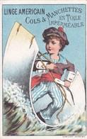 "Chromo 1885 Magasin ""linge Américain En Toile Imperméable Hyatt"" (marin) - Autres"