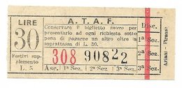 Tranvai Fiorentini. ATAF Lire 30 Anni 50/60 - Tramways
