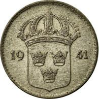 Monnaie, Suède, Gustaf V, 10 Öre, 1941, TTB, Argent, KM:780 - Suède