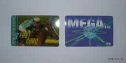 BELGIUM Pre Paid Calling Cards, MEGA Tel - LycaTel - Year 2007 (€5) Used, & Fast Card (€5) Used - Belgium