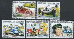 Centrafrique YT 457-461 XX / MNH Sport Auto - Centrafricaine (République)
