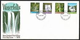 1976 - NEW ZEALAND - FDC + SG 1121/1124 [Falls] + WANGANUI N.Z. - FDC