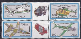 Repubblica Italiana, 1982 - Costruzioni Aeronautiche Italiane - Nr.1593/1596 MNH** - 1981-90: Nieuw/plakker