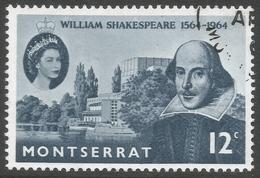 Montserrat. 1964 400th Birth Anniv Of William Shakespeare. 12c Used. SG 156 - Montserrat