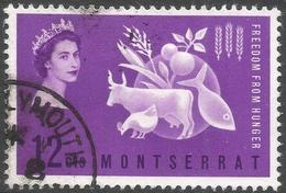 Montserrat. 1964 Freedom From Hunger. 12c Used. SG 153 - Montserrat