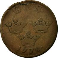 Monnaie, Suède, Gustaf III, Ore, K.M., 1778, TB, Cuivre, KM:512.1 - Suède