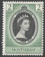 Montserrat. 1953 QEII Coronation. 2c MH SG 136 - Montserrat