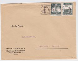 BRIEF DEUTSCHES REICH HAMBURG 13.09.1935 NACH LANDSHUT BAYERN EISENBAHN NÜRNBERG STEMPEL TRAIN TELEPHONE PHONE MACHINE - Allemagne