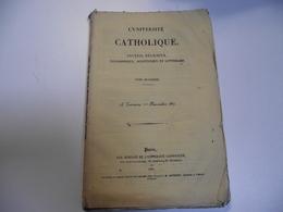 L' UNIVERSITE CATHOLIQUE , 1837, N° 23 , 70 Pages Environ, Revue - Religion & Esotérisme