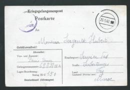 Carte De Prisonnier écrite En Mai 1942 De Lager-Bezeichnung Stalag 3 C  150 Deutschland ( Allemagne )   Lx3202 - WW II