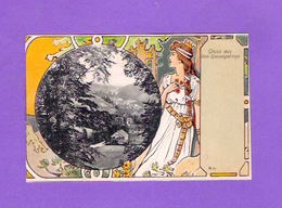 TCHEQUIE POLOGNE Illustrateur Rudolf Konopa ( Vienne 1864 - 1938 )? Gruss Aus Dem Riesengebirge - Illustrateurs & Photographes