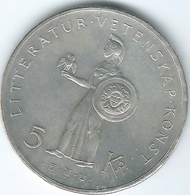 Sweden - Gustav VI - 5 Kronor - 1962 (KM838) - Gustav VI 80th Birthday - Suède