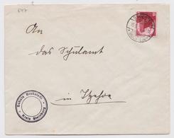BRIEF DEUTSCHES REICH SCHULE BROKSTEDT HOLSTEIN KREIS STEINBURG 15.09.1934 STEMPEL BRIEFMARKE - Allemagne