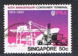 Singapore SG433 1982 10th Anniversary Of Container Terminal 50c Good/fine Used [15/14414/2D] - Singapore (1959-...)