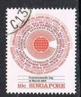 Singapore SG443 1983 Commonwealth Day 10c Good/fine Used [15/14416/2D] - Singapore (1959-...)