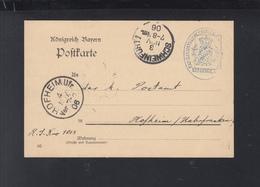 Bayern Dienst-PK 1906 K. Landbauamt Kissingen - Deutschland
