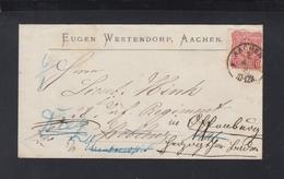 Dt. Reich Brief Aachen 1879 Weitergeleitet - Deutschland