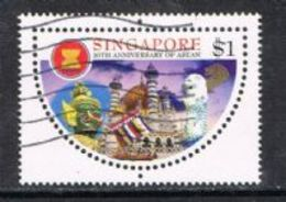 Singapore SG903 1997 30th Anniversary Of ASEAN $1 Good/fine Used [15/14410/2D] - Singapore (1959-...)