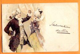 Man1003, Couple, Danse, Costume, Précurseur, Circulée 1900 - Phantasie