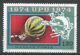 Hungary 1974. Scott #2285 (U) Centenary Of The UPU, Balloon Post * - Hungary