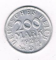 200 MARK 1923 D   DUITSLAND 1307/ - [ 3] 1918-1933 : Republique De Weimar