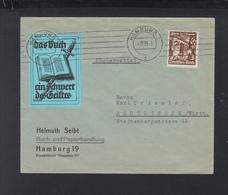 Dt. Reich Brief 1935 Hamburg Vignette Das Buch Ein Schwert Des Geistes - Deutschland