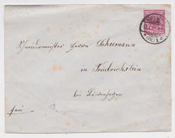 DEUTSCH REICHPOST 10 PFENNING GANZSACHE BRIEF KÖNIGSBERG OSTPREUSSEN 17.01.1891 LOEWENHAGEN LÖWENHAGEN BRIEFMARKE - Prusse