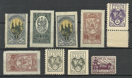 Mittellitauen Central Lithuania 1920/22 Small Lot Of Mint Stamps - Lituanie