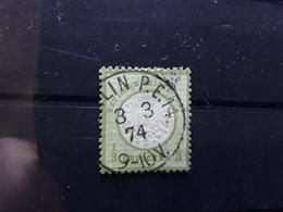 Deutsches Reich / Allemagne 1872  Aigle Gros Ecusson,  Yvert No 14, 1/ 3 G Vert Jaune Obl BERLIN BTB - Deutschland