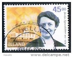 Iceland 2002 - Sesselja H. Sigmundsdottir - 1944-... Republique