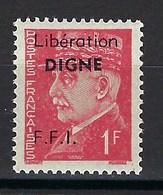 France, Libération, Digne, N° 8 ** TB Signé - Libération