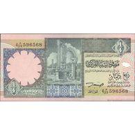 TWN - LIBYA 57b - ¼ Dinar 1991 Series 4 - Various Prefixes UNC - Libia