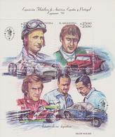 ARGENTINE : BLOCS/FEUILLET J.M FANGIO,C.REUTEMANN, J.M BORDEU Et O.J GALVEZ - Automovilismo