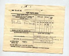 Recepissé ? + Fragment Affranchissement - Bangladesh