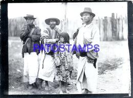 107485 ARGENTINA COSTUMES NATIVE INDIOS OLD PHOTO NO POSTAL POSTCARD - Argentine