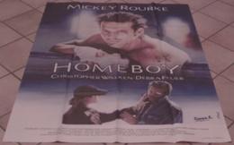 AFFICHE CINEMA ORIGINALE FILM HOMEBOY Mickey ROURKE Michael SERESIN Christopher WALKEN 1988 TBE BOXE - Affiches & Posters